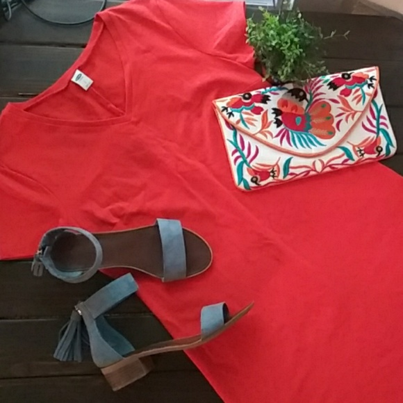 Old Navy Dresses & Skirts - Old Navy Fitted T Shirt Dress Orange Size Large